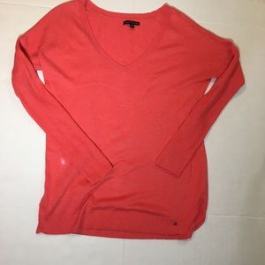 4/$25 AEO Long Sleeve Lightweight Sweater-Coral
